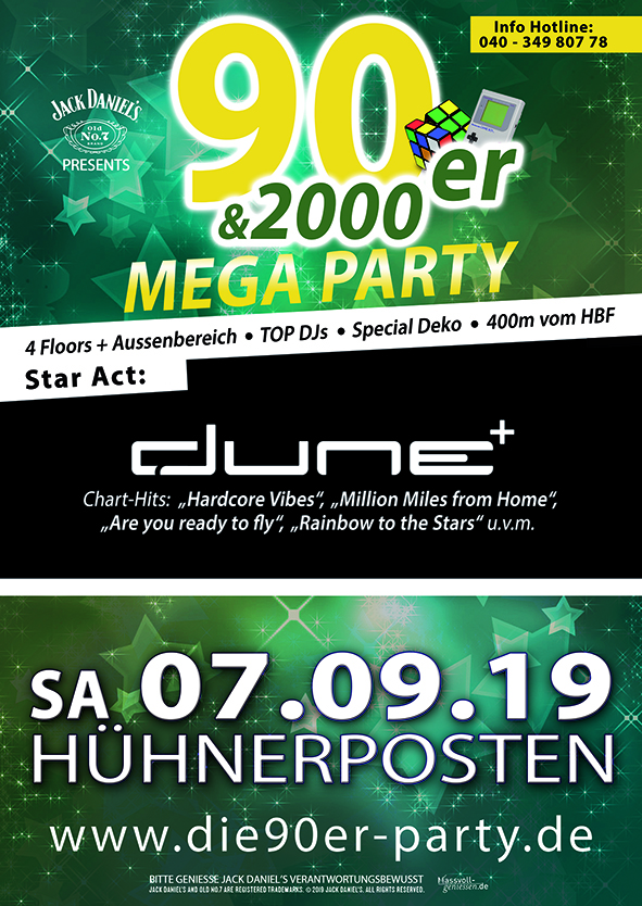 Teaser Image Event Die 90er & 2000er Mega Party